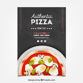 Authentic pizza poster