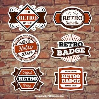Authentic retro badges