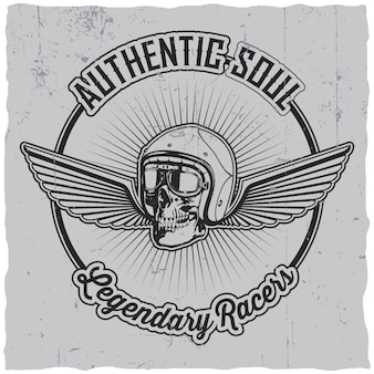 Authentic soul legendary racers label