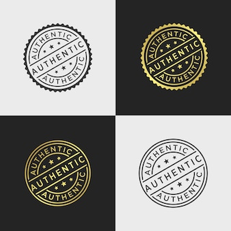 Authentic stamp vector template