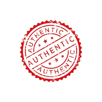 Authentic stamp vector