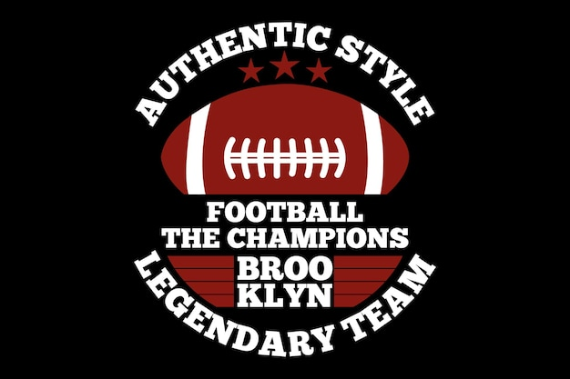 Authentic style football champions