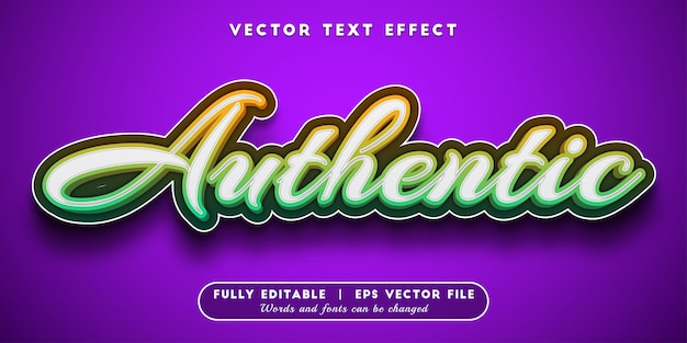 Authentic text effect with editable text style