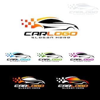 스포츠카를위한 자동 자동차 로고