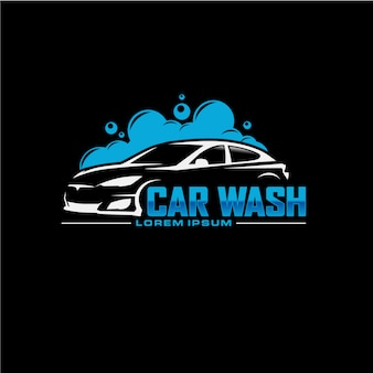 Auto car wash logo design