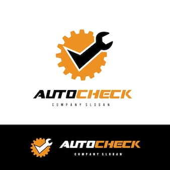 Auto check logo car and automotive logo template.
