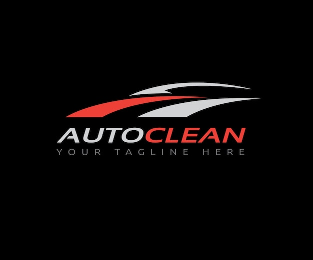 Auto clean car logo template.