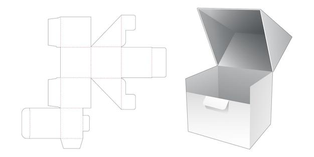 자동 잠긴 포인트 플립 선물 상자 다이 컷 템플릿