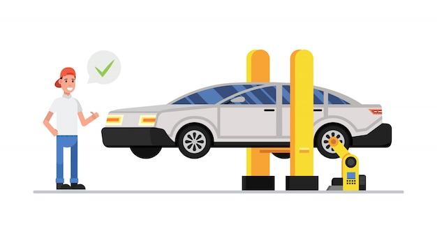 機械および装置の自動車整備士の修理