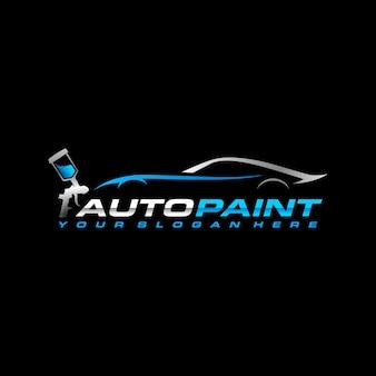 Шаблон логотипа авто краска