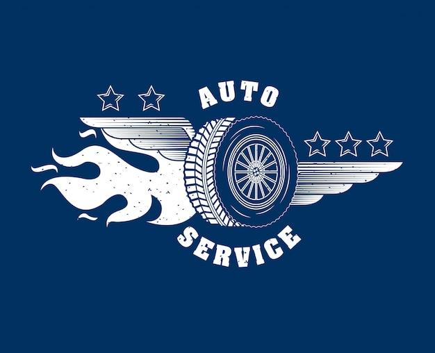 自動車修理サービスのロゴ