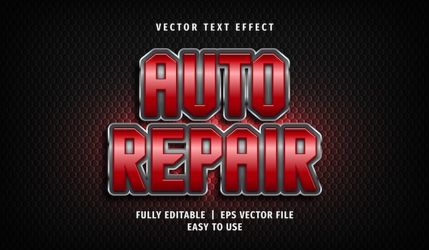 Auto repair text effect, editable text style