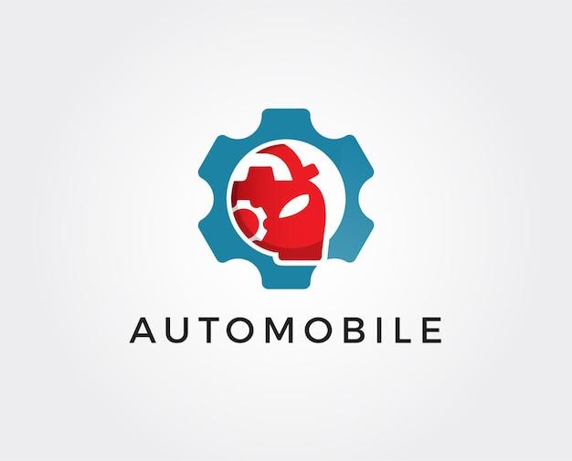 Auto repairing logo template Premium Vector