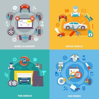 Auto service 2x2 design concept