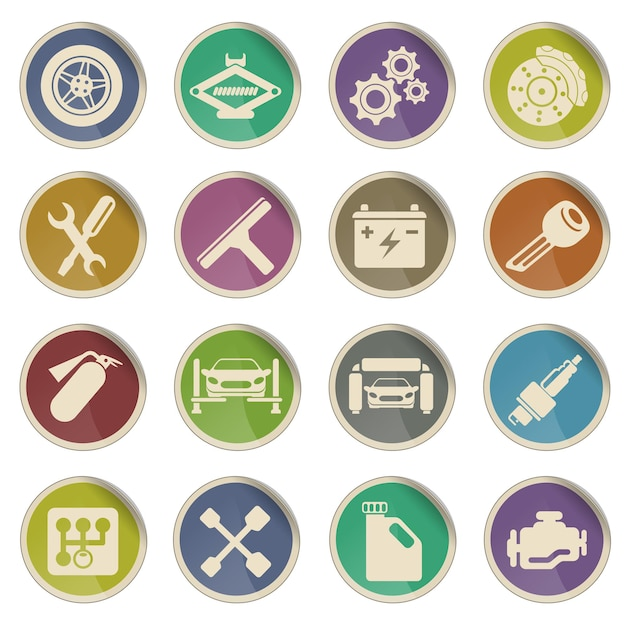 Auto service simply symbol for web icons