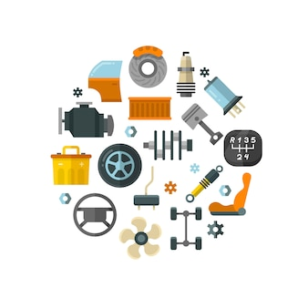 Auto spare parts car repair service