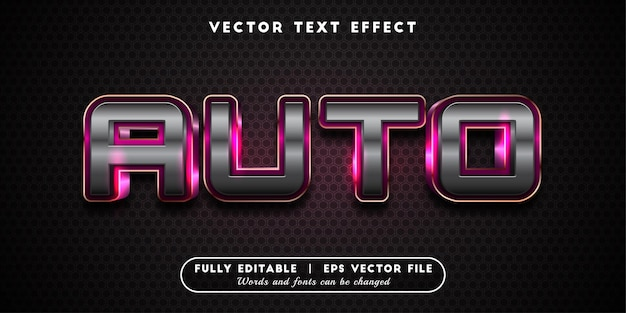 Auto text effect, editable text style