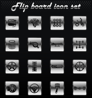 Auto tuning vector flip mechanical icons for user interface design