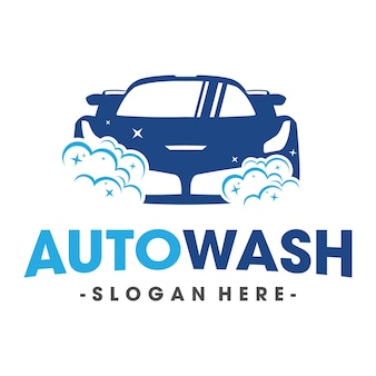 Auto wash and clening car logo vector