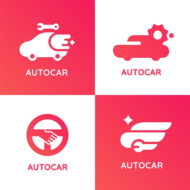 Autocar modern style application logo
