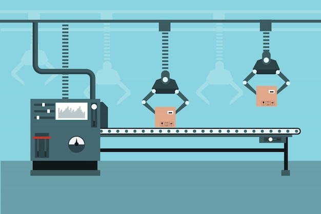 Automated industrial production line