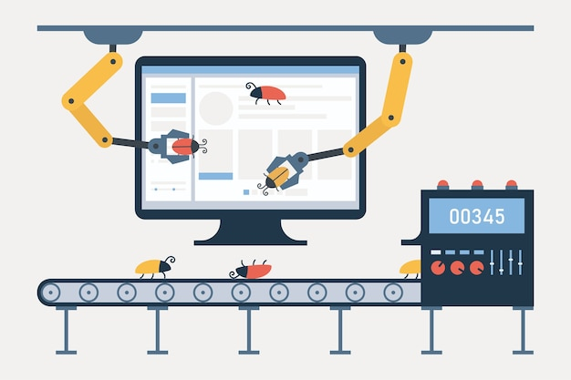 자동화 된 소프트웨어 테스트 및 품질 보증. 버그 및 결함 추적 시스템 용 컨베이어