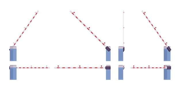 Комплект автоматических ворот шлагбаума