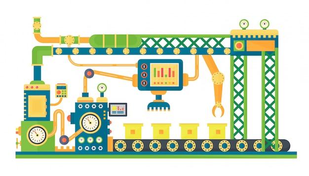 Automatic stock robots conveyor belt