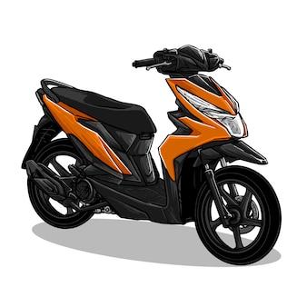 Automatic transmission motorcycle illustration