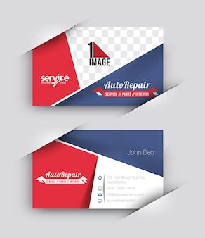 Automobile center business card mock up design
