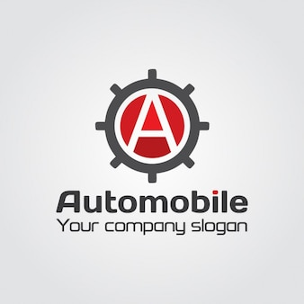 Automobile gear letter a logo