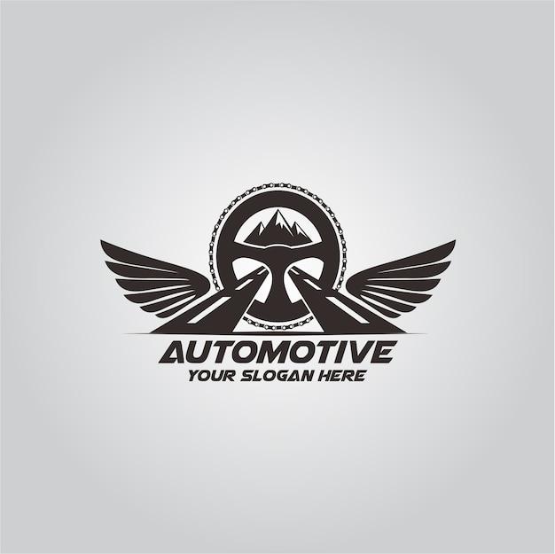Automotive adventure logo Premium Vector