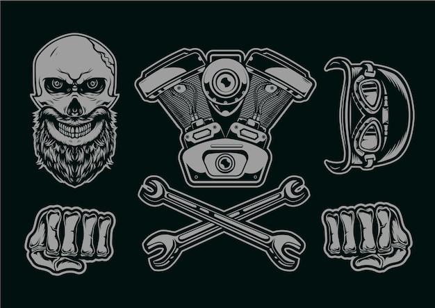 Логотип автомобильного и мотоциклетного клуба