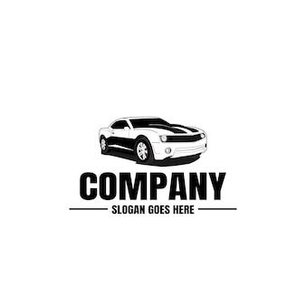 自動車の黒とロゴのテンプレート