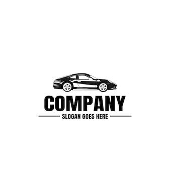 Automotive car black and logo template