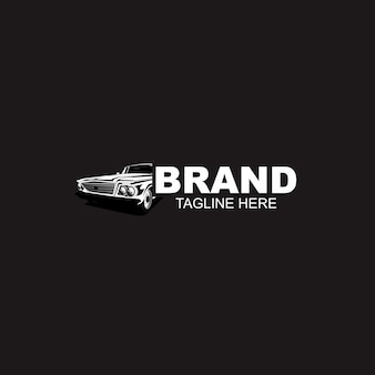 Automotive car logo template black and white