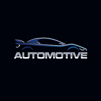 Автомобильный автомобиль талисман логотип силуэт