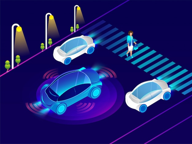 Automotive car with sensor technology.