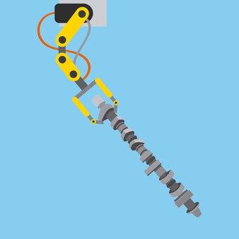 커넥팅로드가있는 자동차 산업 로봇 팔