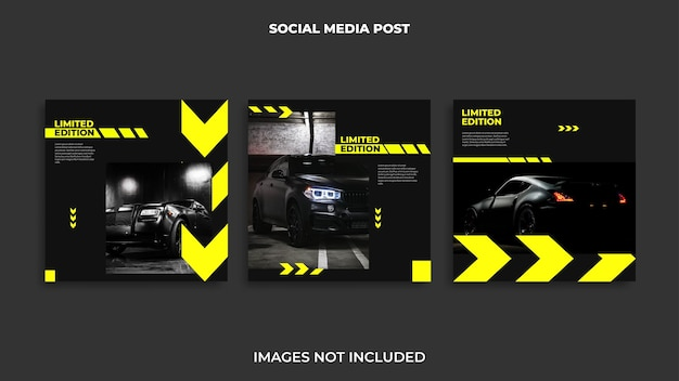 Автомобильный дизайн поста в instagram