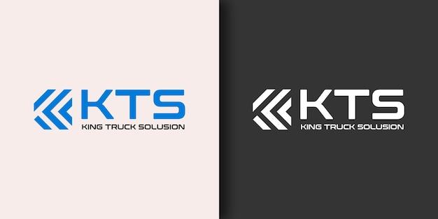 Шаблон дизайна логотипа automotive king truck solusion