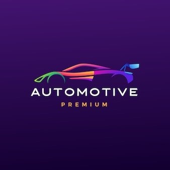 Automotive logo icon illustration