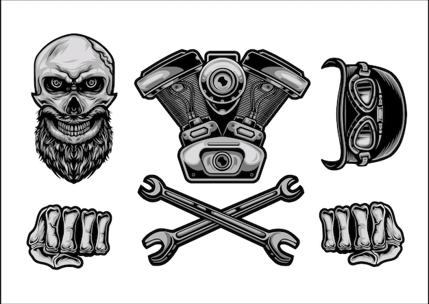 Automotive and motorcycle club logo