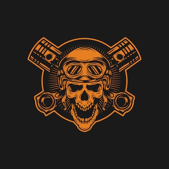 Automotive skulls vector