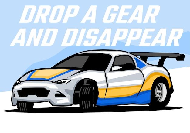 Automotive sport car illustration