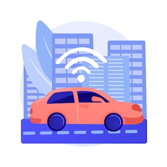 Autonomous driving abstract concept illustration