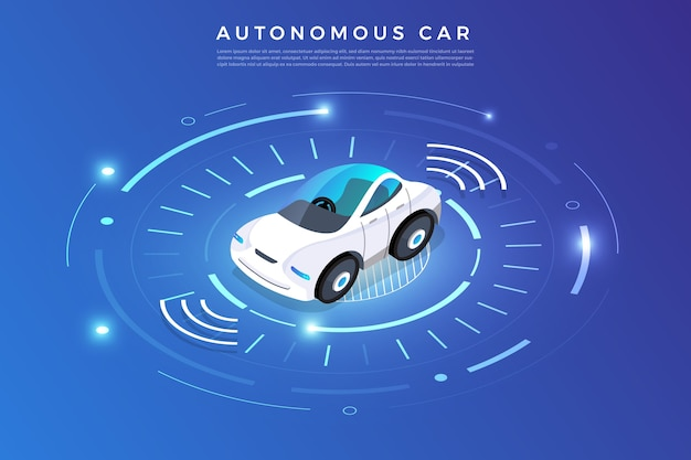 Автономное автономное вождение автомобильные датчики smart car технология автомобилей без водителя