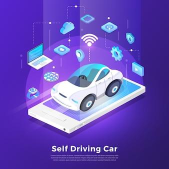 Autonomous self-driving automobile sensors smart car driverless vehicle technology