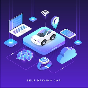 Autonomous self-driving automobile sensors smart car driverless vehicle technology