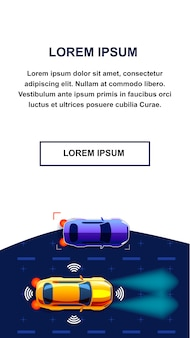 Autonomus car mobile application